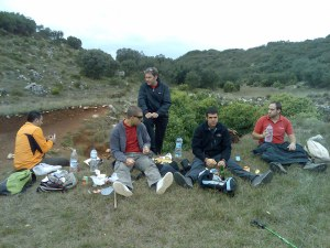 Ernest, Salva, Sergio, Raimon, Salva i Hugo fent la foto.